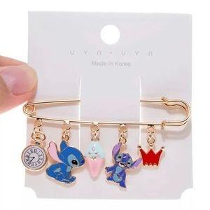 New Disney Stitch Clothespin brooch pin RARE